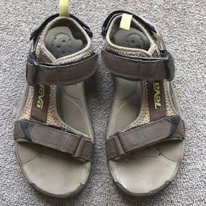 TEVA OPEN TOACHI SPORT SANDALS TAUPE BROWN 5.5
